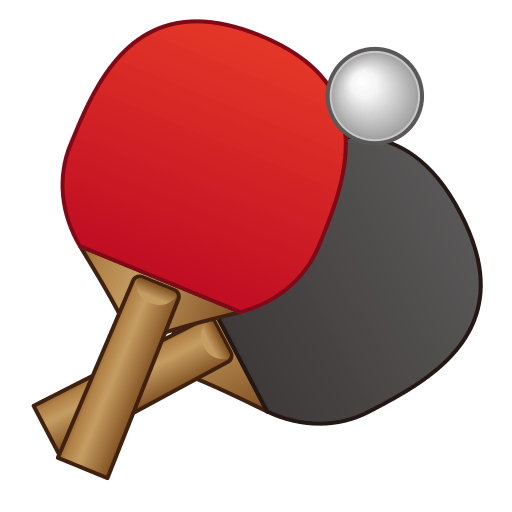 Table Tennis Paddle And Ball Emoji