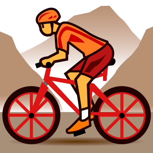 Mountain Bicyclist Emoji