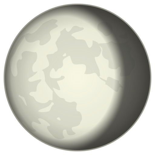 Waning Gibbous Moon Symbol Emoji for Facebook, Email & SMS