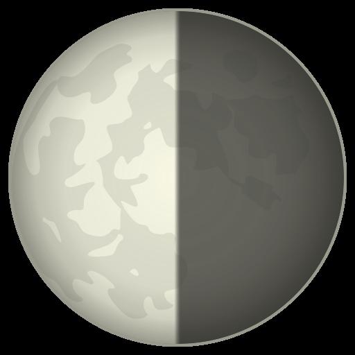 Last Quarter Moon Symbol Emoji