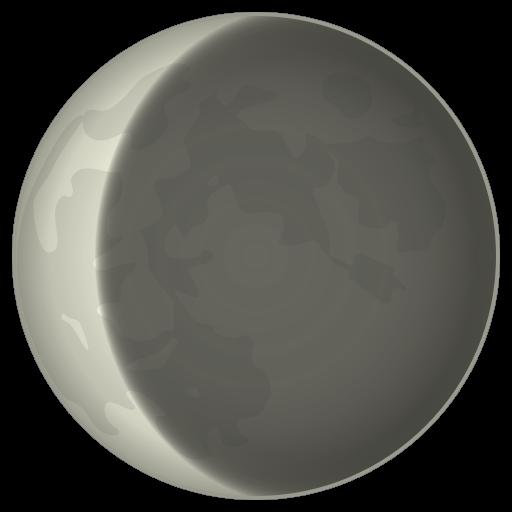 Waning Crescent Moon Symbol Emoji