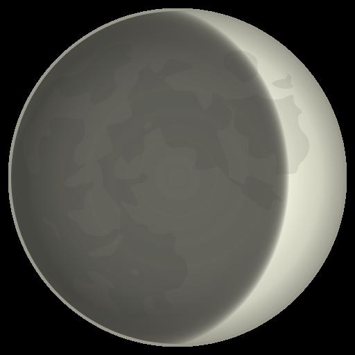 Waxing Crescent Moon Symbol