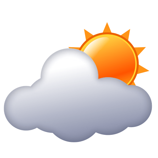 Sun Behind Cloud Emoji for Facebook, Email & SMS | ID#: 12517