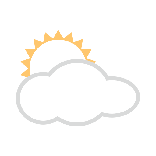 White Sun Behind Cloud Emoji