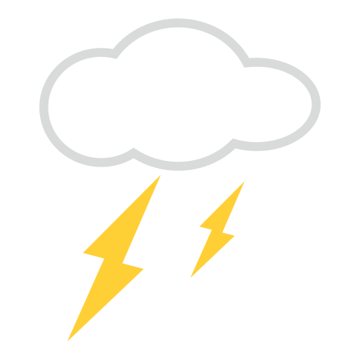 Cloud With Lightning Emoji For Facebook Email SMS ID 12522 Emoji