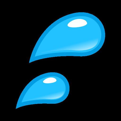 Splashing Sweat Symbol