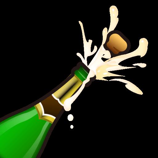 Bottle With Popping Cork Emoji