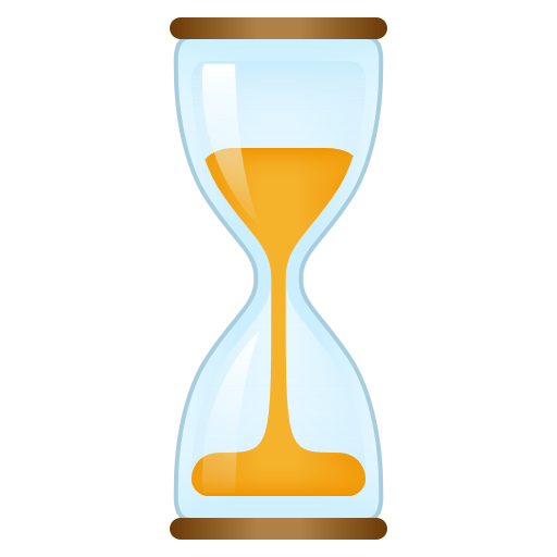 Hourglass With Flowing Sand Emoji