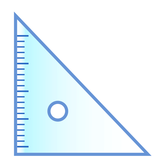 Triangular Ruler Emoji
