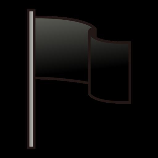Waving Black Flag Emoji