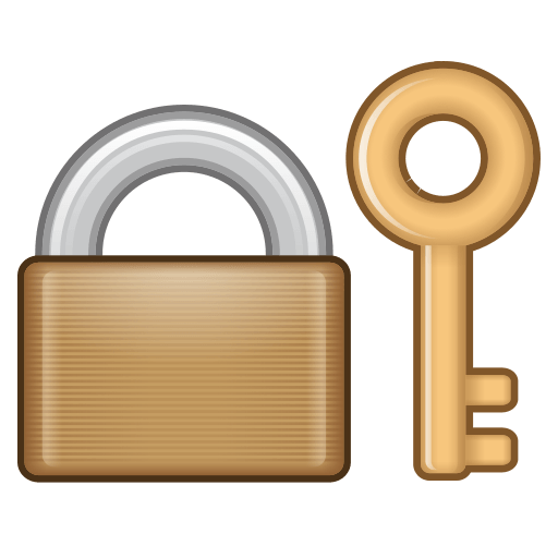 Closed Lock With Key Emoji For Facebook Email Sms Id 12921