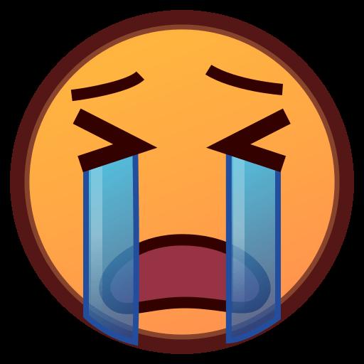 Loudly Crying Face Emoji