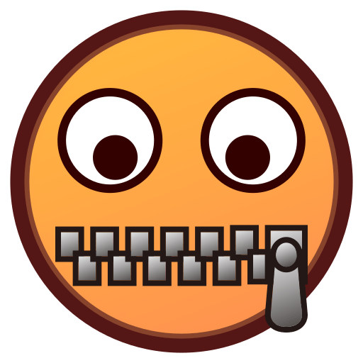 Zipper-mouth Face Emoji