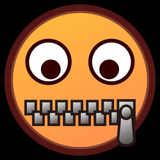 Zipper-mouth Face Emoji