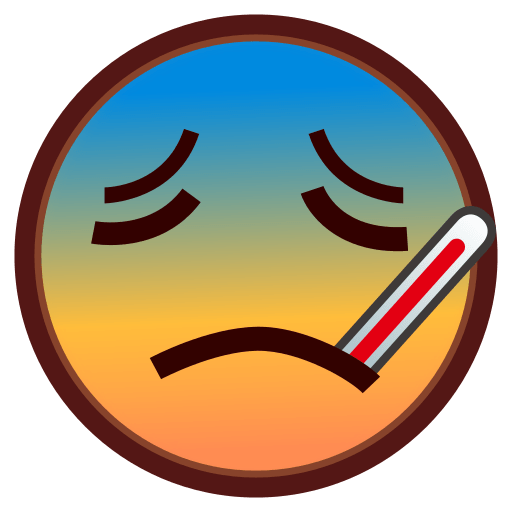 Face With Thermometer Emoji