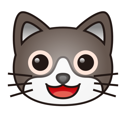 smiling cat face with open mouth emoji for facebook  email