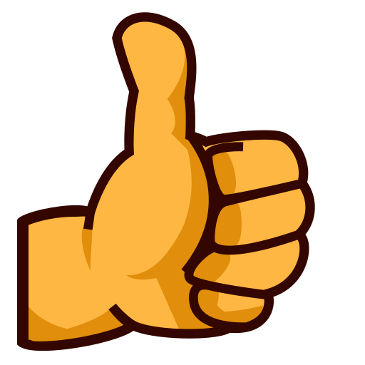 Thumbs Up Sign Emoji for Facebook, Email & SMS | ID#: 91 ...