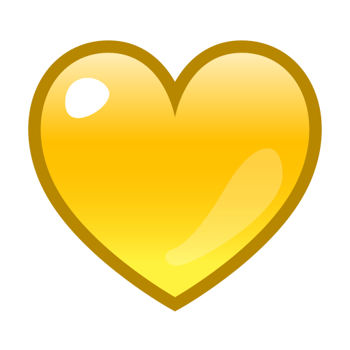 List of Phantom Symbol Emojis for Use as Facebook Stickers ... Yellow Heart Emoji