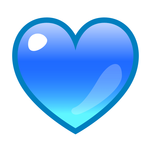 blue heart emoji for facebook email sms id 774 emoji co uk