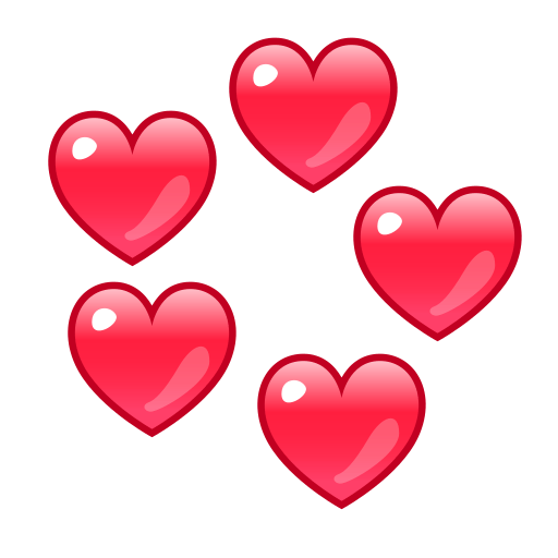 Revolving Hearts Emoji For Facebook Email Sms Id 12941