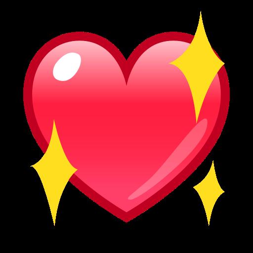 Sparkling Heart Emoji For Facebook Email Sms Id 12944 Emoji
