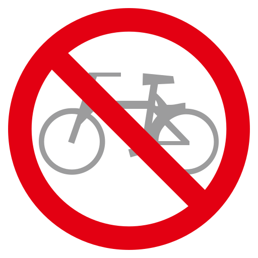 No Bicycles Emoji