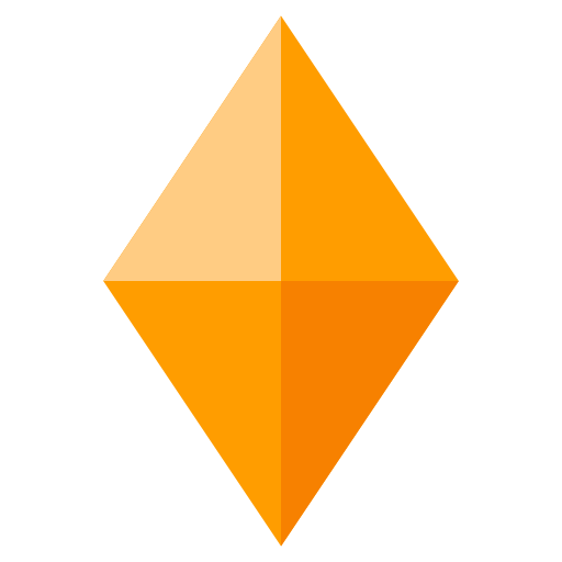 Large Orange Diamond Emoji