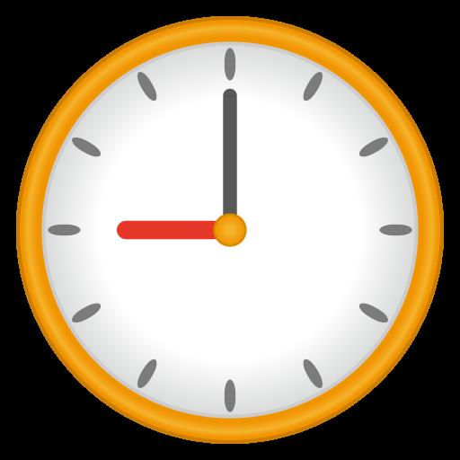 Clock Face Nine Oclock Emoji