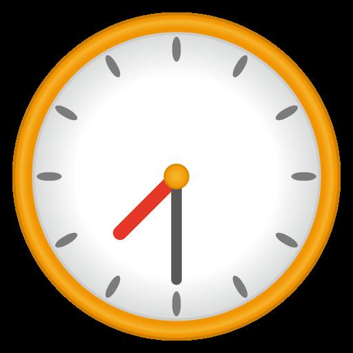 Clock Face Seven-Thirty Emoji