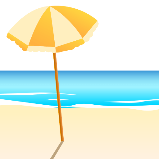 Beach With Umbrella Emoji