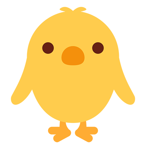 Front-Facing Baby Chick Emoji