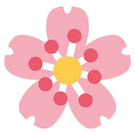 Cherry Blossom Emoji for Facebook, Email & SMS | ID#: 10730