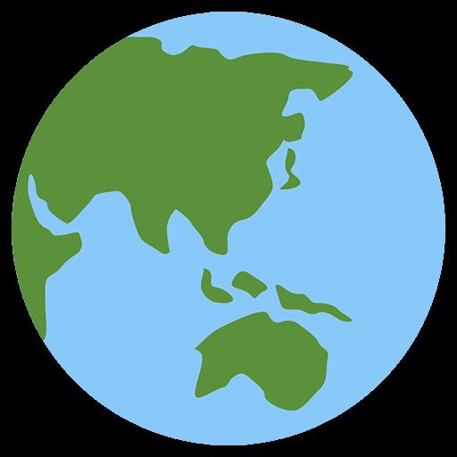 Earth Globe Asia-Australia