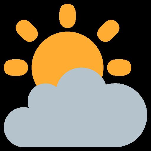 White Sun With Small Cloud Emoji