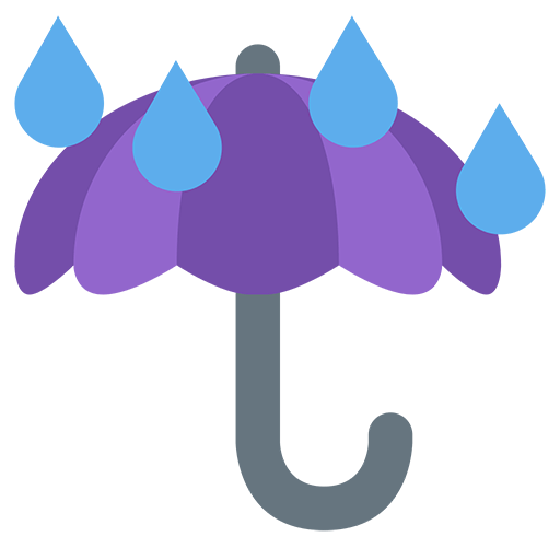 Umbrella With Rain Drops Emoji
