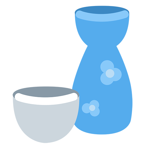 Sake Bottle And Cup Emoji