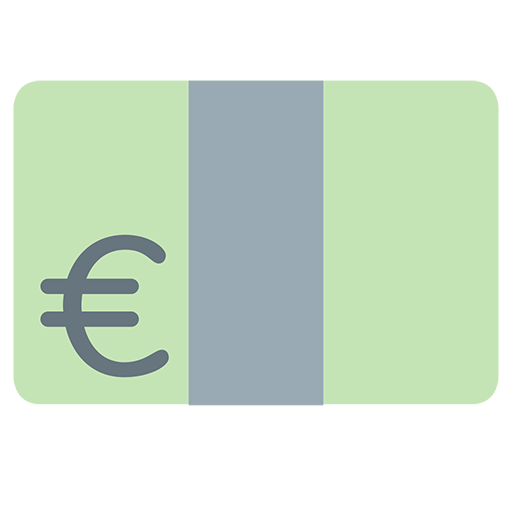 Banknote With Euro Sign Emoji