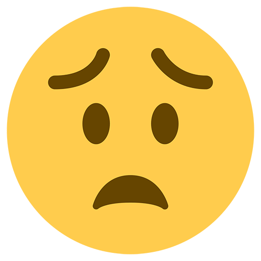 Worried Face Emoji