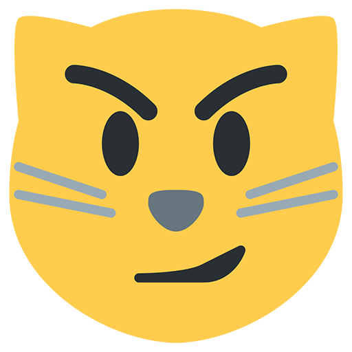 Cat Face With Wry Smile Emoji