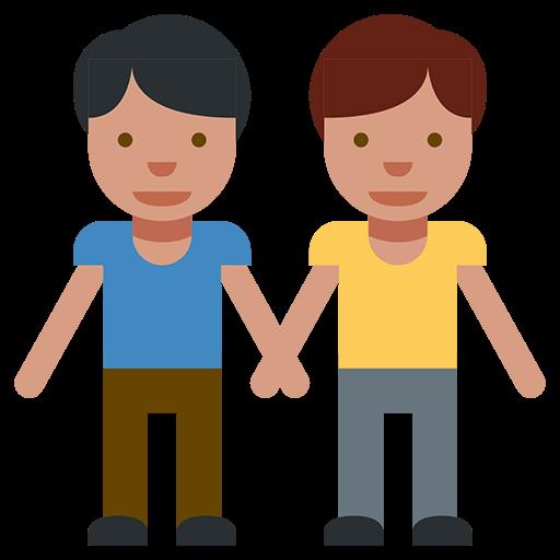 Two Men Holding Hands Emoji