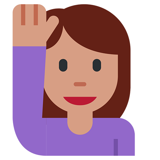 Happy Person Raising One Hand Emoji