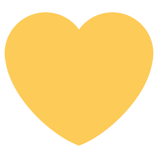 List of Twitter Symbol Emojis for Use as Facebook Stickers ... Yellow Heart Emoji