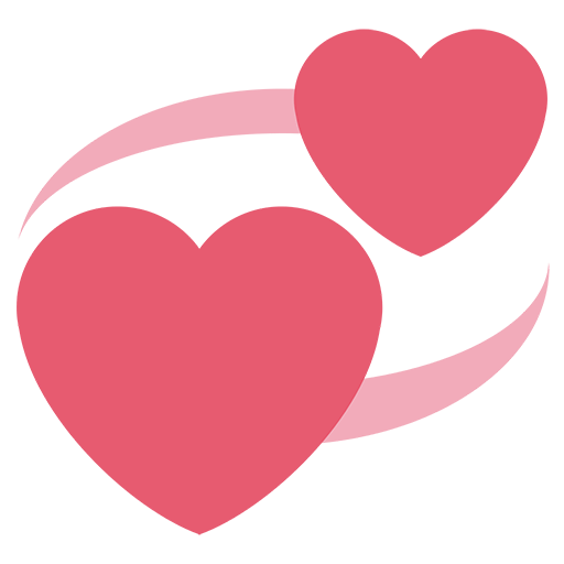 Revolving Hearts Emoji For Facebook Email Sms Id 11080