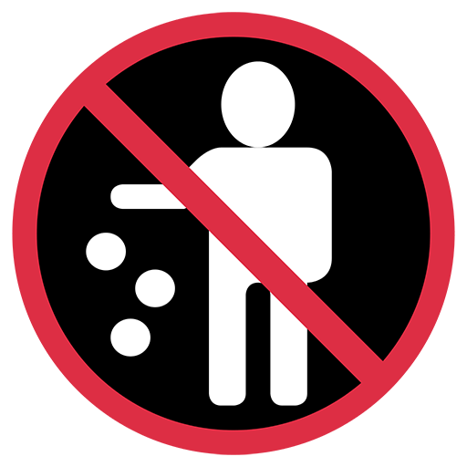 Do Not Litter Symbol Emoji