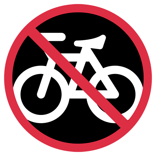 No Bicycles Emoji