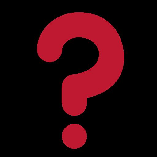 Black Question Mark Ornament