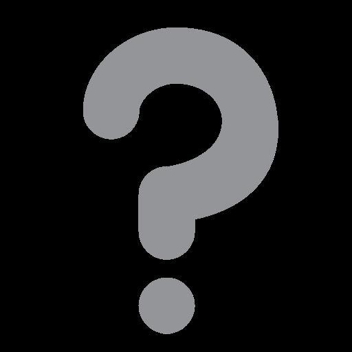 White Question Mark Ornament