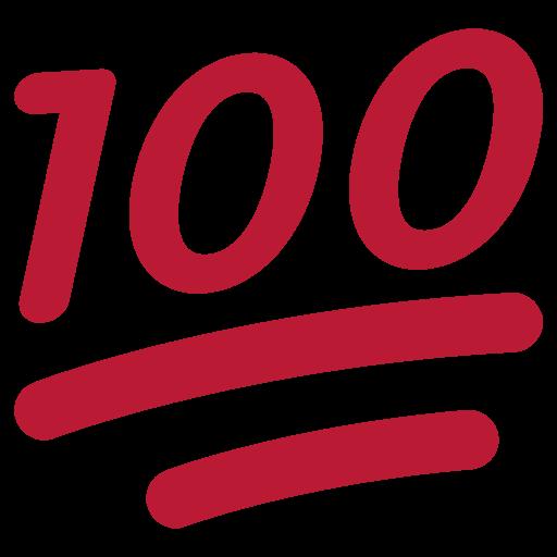 Hundred Points Symbol Emoji