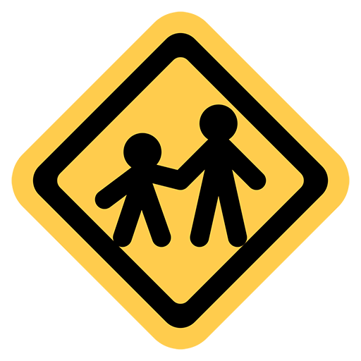 Children Crossing Emoji