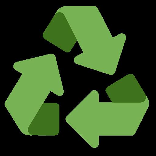 Black Universal Recycling Symbol Emoji